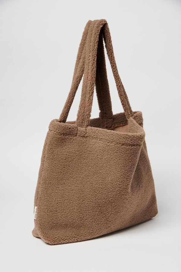Chunky teddy mom-bag | Brown