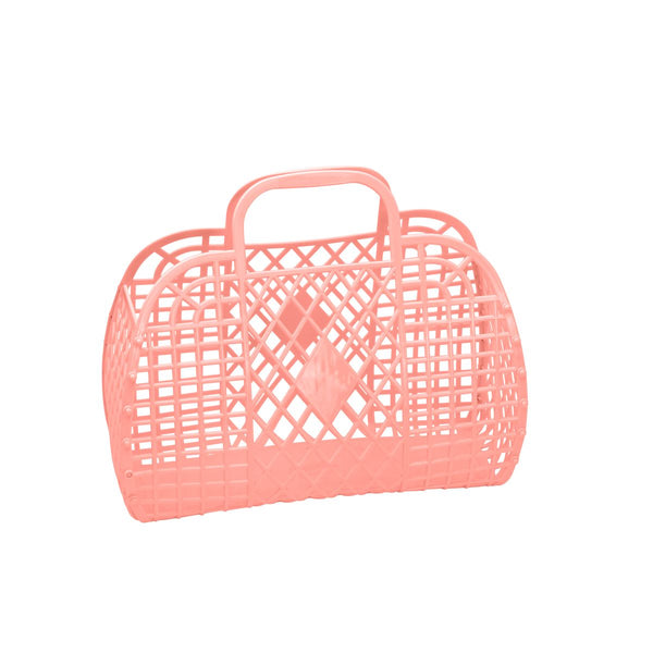Retro Basket | Small | Peach