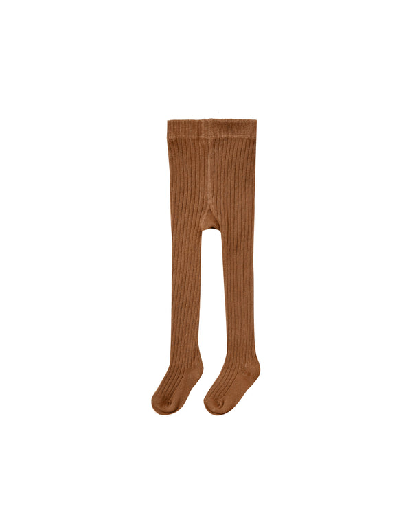 rib knit tights | cinnamon