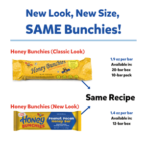 LIMITED STOCK - WILL SELL OUT SOON!  Honey Bunchies Gourmet Honey Bar, Peanut Pecan, 1.9oz, 10 bars