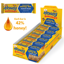 Honey Bunchies Gourmet Honey Bar, Peanut Pecan (1 pack / 12 bars)