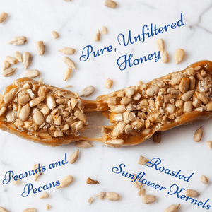 Honey Bunchies Gourmet Honey Bar, Peanut Pecan, 4 pack
