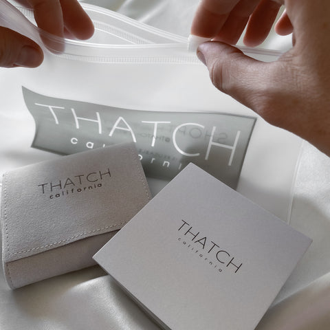 THATCH Standard Packaging | Jewelry Pouch and *Zipper Pouch