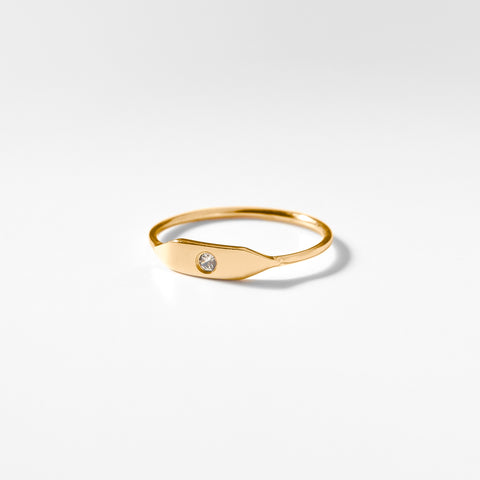 Stacking Signet Ring w. Stone