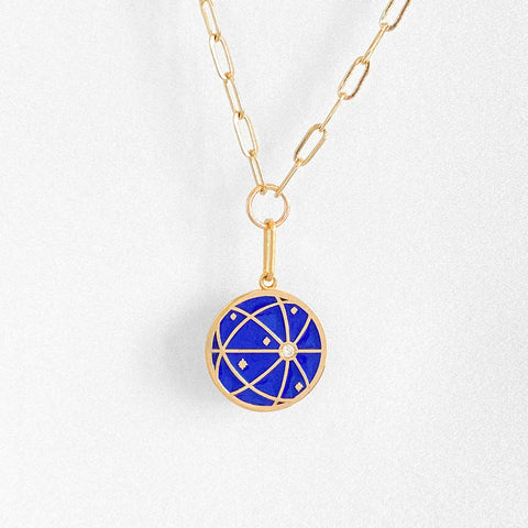 Atlas Link Necklace w. Enamel