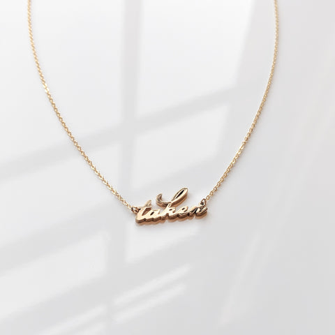 Taken Script Necklace