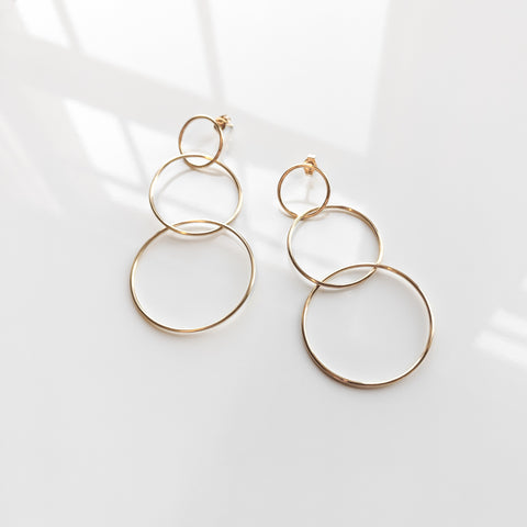 Estelle Triple Hoop Earrings