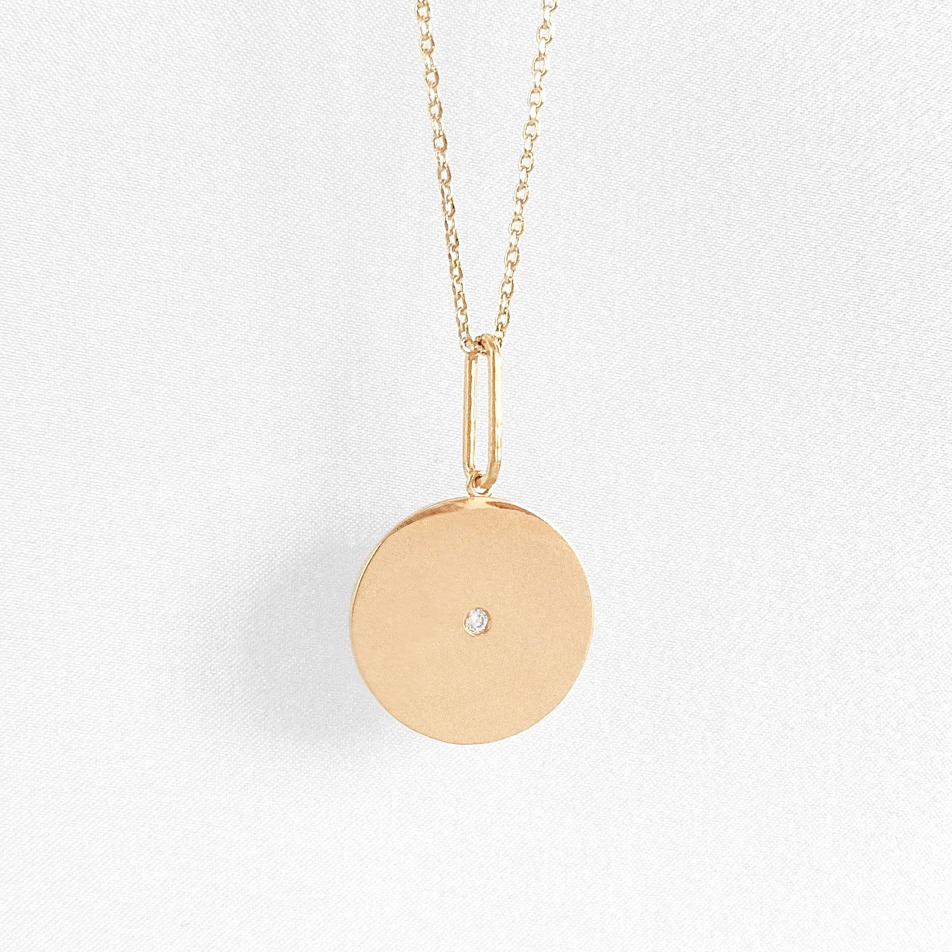 Balia Disc Necklace w. Stone