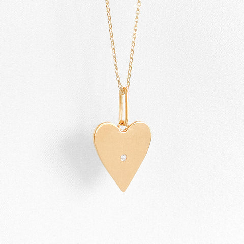 Amaya Heart Necklace w. Stone