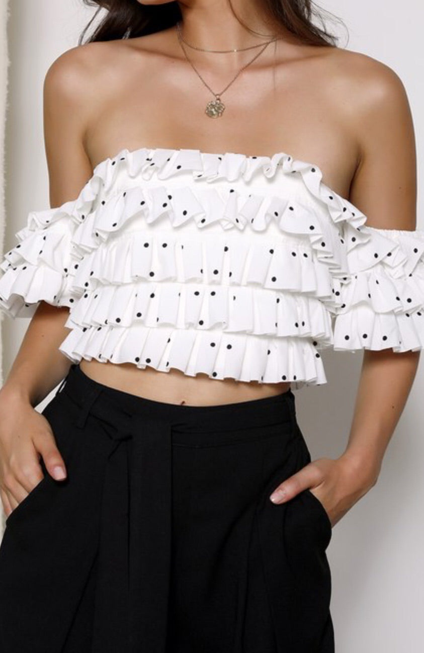 Speechless Strapless Crop Top