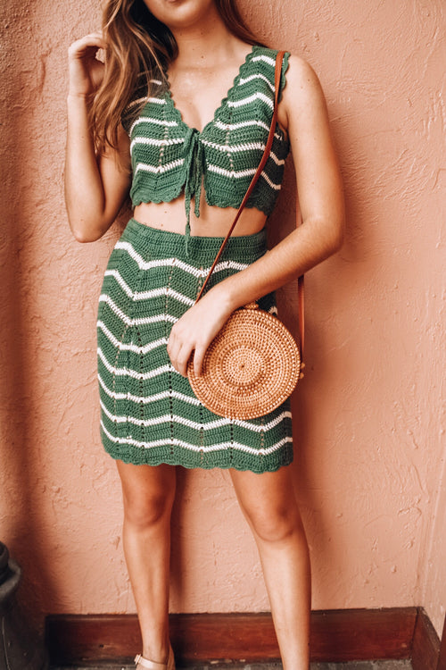 Mykonos Green Knit Set