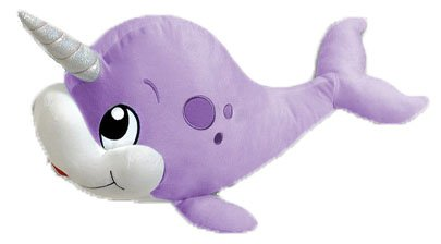 Purple Narwhal Unicorn of the Sea Plush Toy - 13 Inches