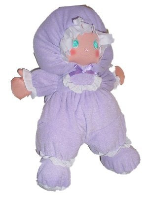 "13"" Purple Baby Doll with Pretty Embroidered Face"