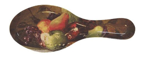 Melamine Spoon Rest Americas Bounty Fruits Design 9 1/2 Inches Long