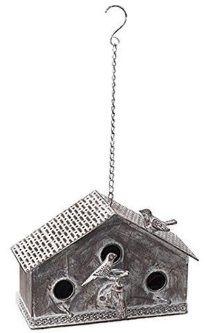 Metal Triple Hole Birdhouse