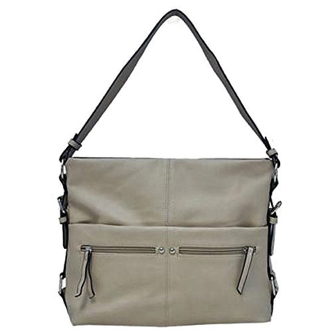 Convertible Bucket Hobo Handbag Bone White