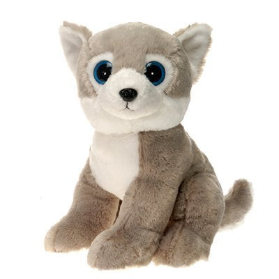 Husky Dog with Big Eyes Plush Stuffed Animal Toy by Fiesta Toys - 15""