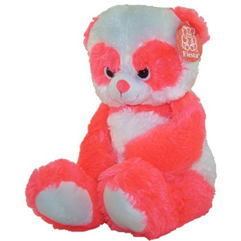 Fiesta Neon Plush - Panda Teddy Bear (Bright Orange - 23 inch)