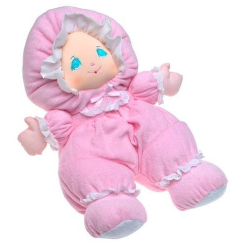 "13"" Pink Baby Doll with Pretty Embroidered Face"