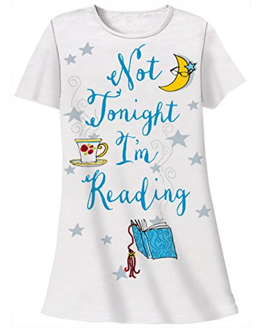 Plus Size Nightshirt Says Not Tonight I'm Reading 2X-3X