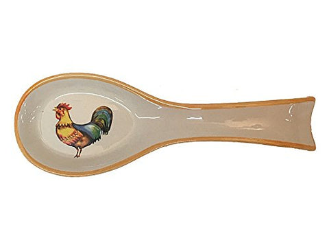 Ceramic Spoon Rest With Rooster