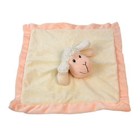 Lovey Security Blanket 12 inch Square Stuffed Animal Baby Blankie for Girls or Boys (Sheep) by Baberoo