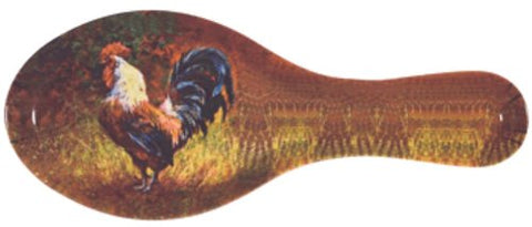 Melamine Spoon Rest 9-1/2 inches Long (Rooster)