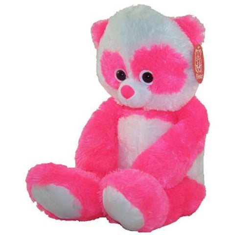 Fiesta Neon Plush - Panda Teddy Bear (Bright Pink - 23 inch)