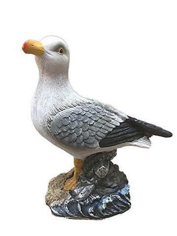 Resin Seagull Figurine 6.25 Inches Tall (Anchor)