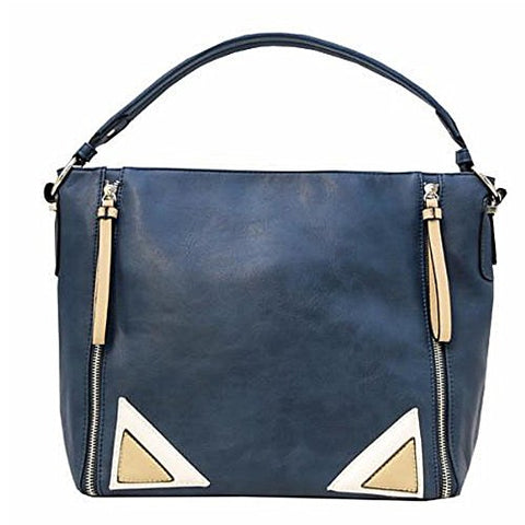 Hobo with Corner Detail Handbag Navy