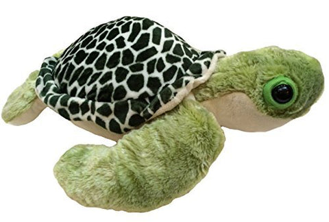 "Fiesta 17"" Green Two-Toned Sea Turtle Plush Toy"