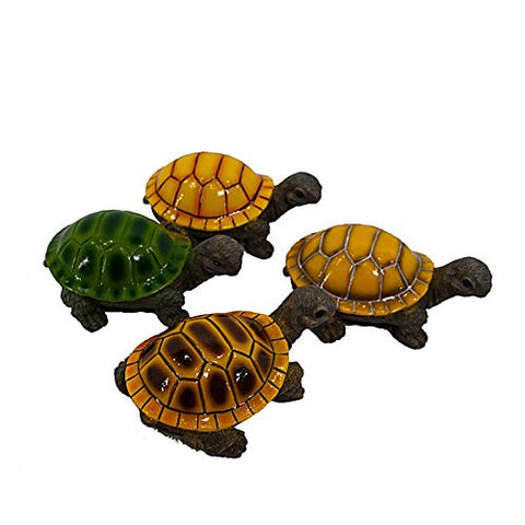 Resin Baby Garden Turtles Set of 4