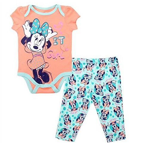 "Minnie ""It Girl"" Bodysuit and Legging Set (3-6M)"