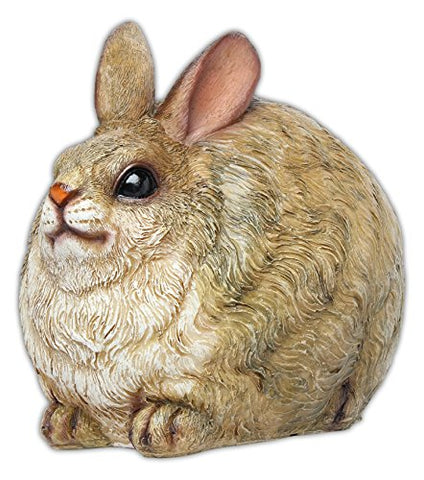 MayRich 7'' Round Fatty Woodland Animal Statue (Rabbit)