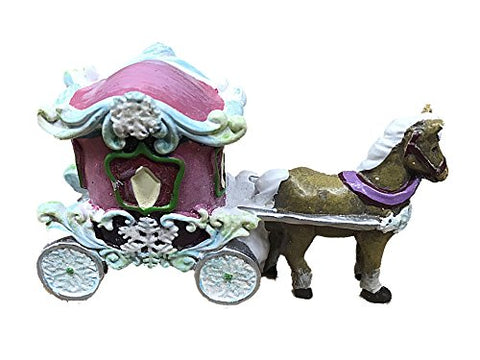 Fairy Garden Mini World Snow Fairies Horse Drawn Carriage Figurine