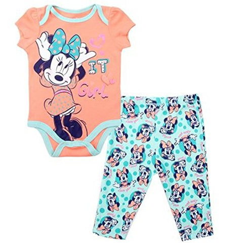 "Minnie ""It Girl"" Bodysuit and Legging Set (6-9M)"