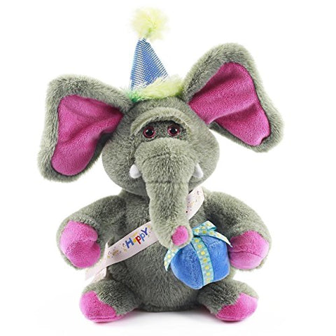 Nika International Birthday Elephant Animated Singing Plush Toy