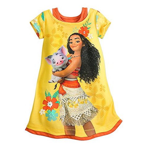 Disney Moana Nightshirt for Girls Size 5/6 Yellow