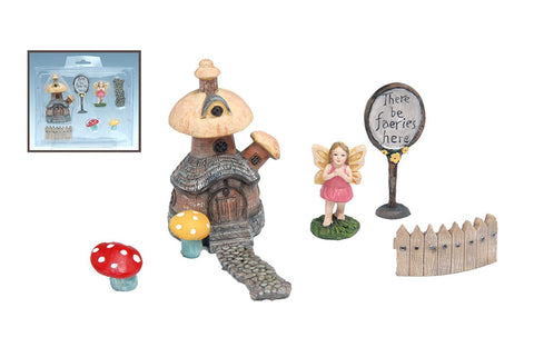 "MayRich Fairy Garden Accessories ""Fairy Sign Post"" Set of 7"