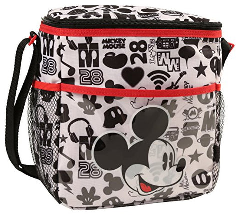 Small Black and White Print Diaper Bag