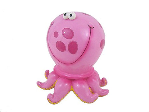 Octopus Child's Bank Pink Polka Dot