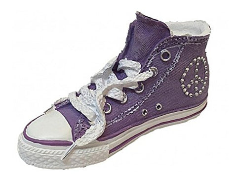 Classic Sneaker Child's Bank Purple High Top