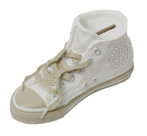 Classic Sneaker Child's Bank White High Top