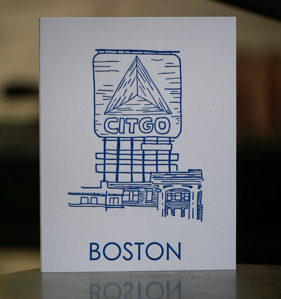 Boston Citgo Greeting Card