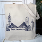 Boston Skyline Tote Bag