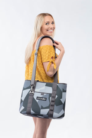 Side Tote Carry Soft Cooler for Women - Grey Camo Cooalla