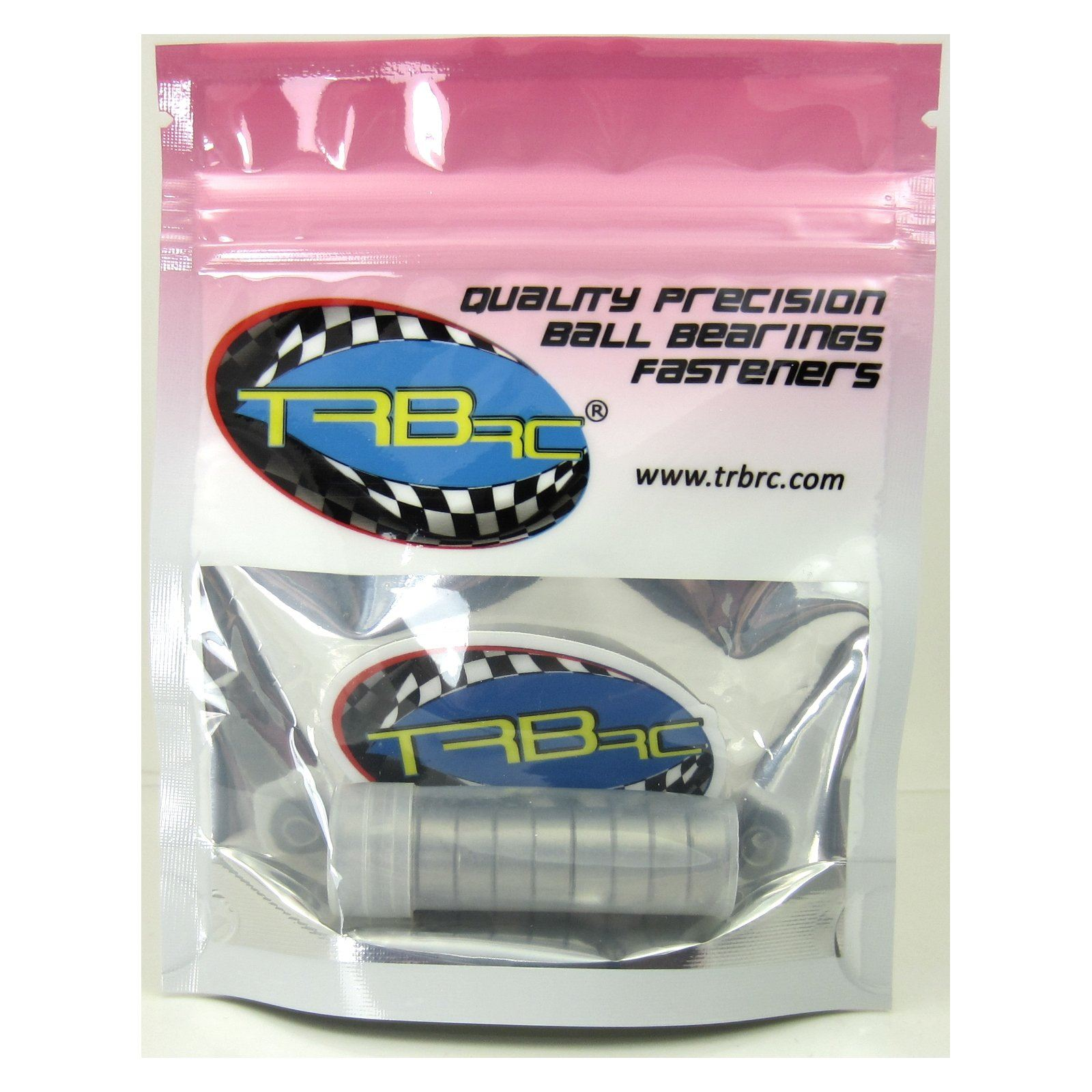 TRB RC 3/16x1/2x49/250 Precision Ball Bearings ABEC 3 Rubber Sealed (10) - trb-rc-bearings