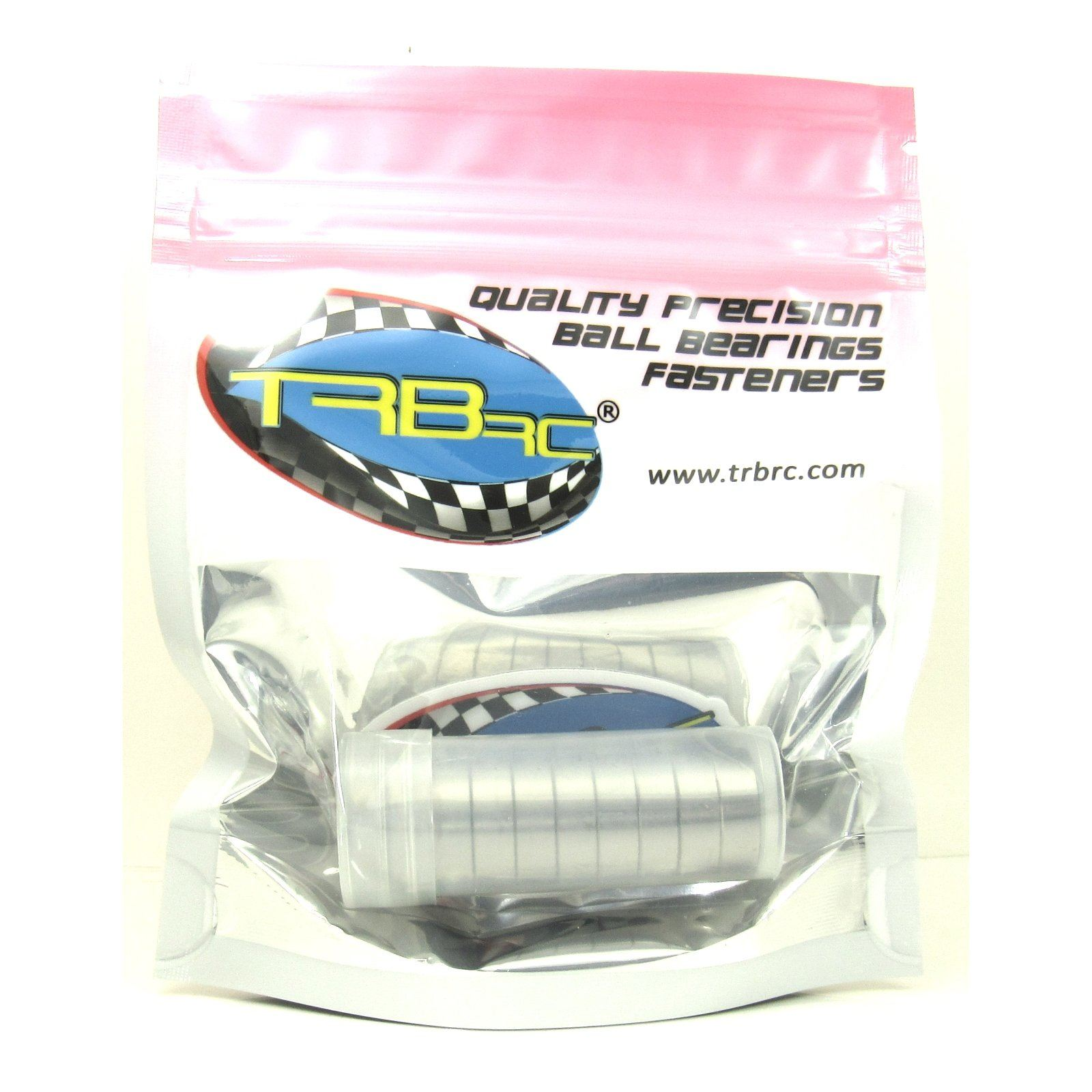 TRB RC 8x16x5mm Precision Ball Bearings ABEC 3 Rubber Sealed (10) - trb-rc-bearings