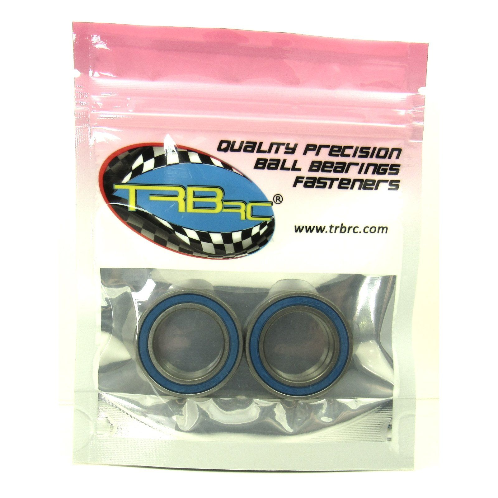 TRB RC 20x32x7mm Precision Ball Bearings ABEC 3 BLU Rubber Seals (2) - trb-rc-bearings