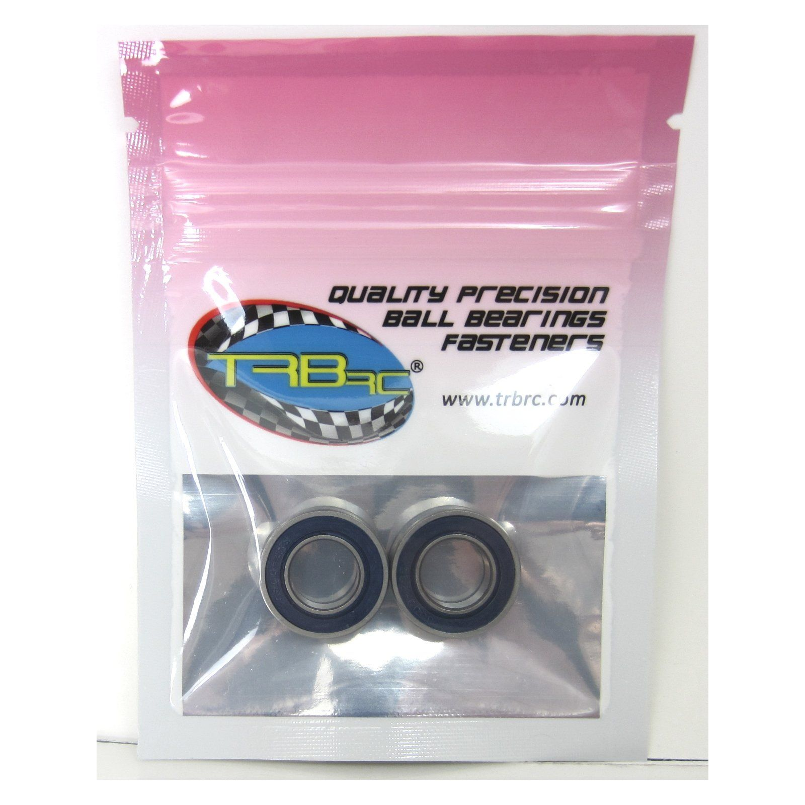 TRB RC 10x19x5mm Precision Ball Bearings ABEC 3 Rubber Sealed BU (2) - trb-rc-bearings